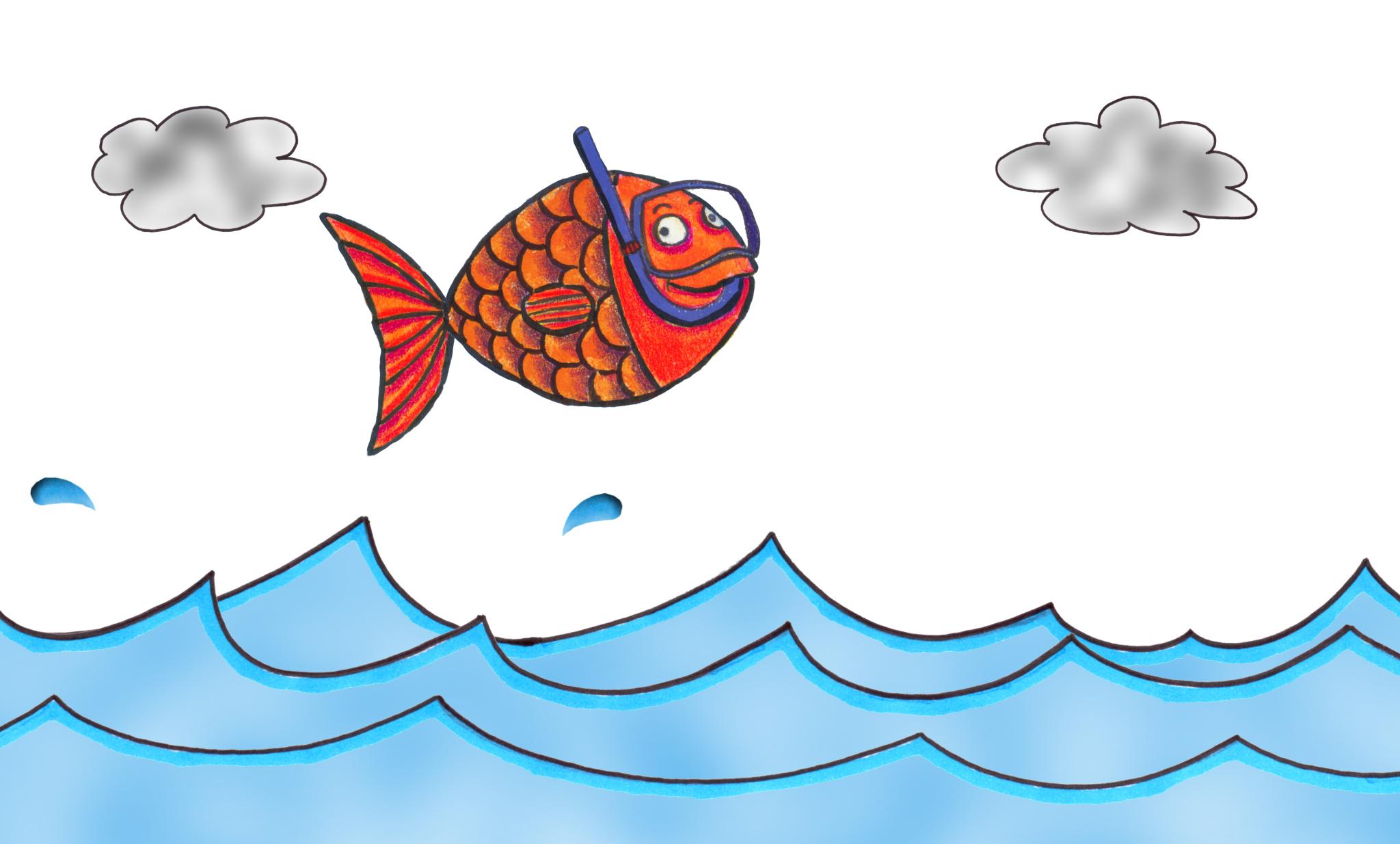 lili pom le poisson rouge qui voulait voir la mer